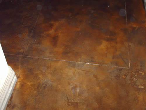 Acid stained floors for How to clean stained concrete garage floors