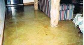 acid stained floor
